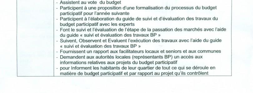 مشاريع التنويــــــــــــر العمومي التي سيتم تنفيذها سنة 2017 (مشاريع الميزانية التشاركية لسنة 2017: (بمتابعة من ممثلي المواطنين المنتخبين