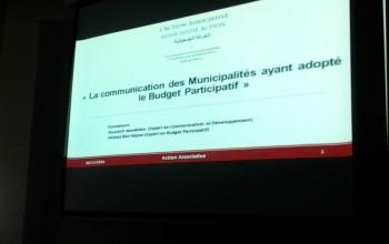 Formation en communication des Municipalités qui ont adopté le Budget participatif