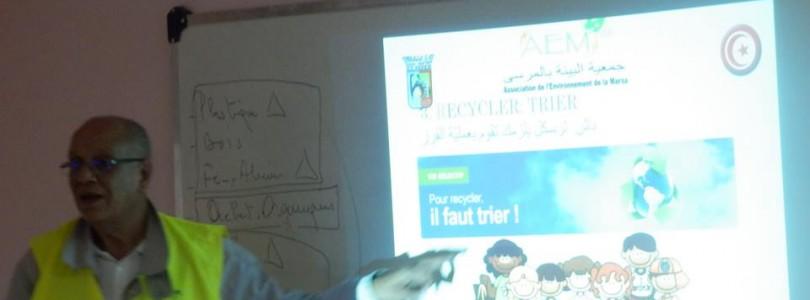 Suivi des actions de sensibilisation des élèves dans les écoles de La Marsa